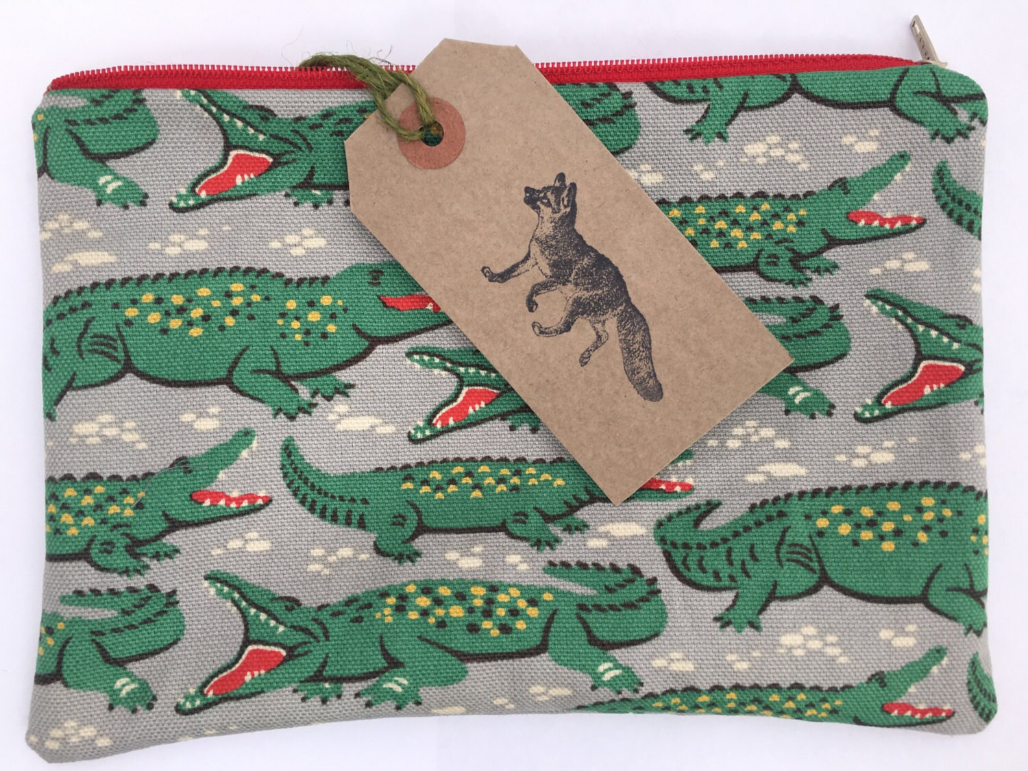 large make up bag cath kidston crocodile design handmade and etsy. Black Bedroom Furniture Sets. Home Design Ideas