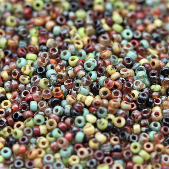 20grams Exclusive!! 11//0 Blue Lagoon Picasso Mega Mix Miyuki seed beads