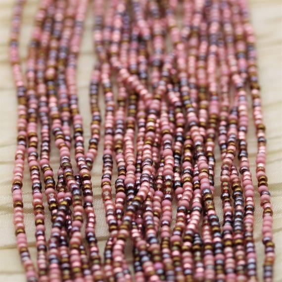 "12//20/"" Preciosa Light Orange Coral Beads Light Orange 10//0 Czech Seed Beads"