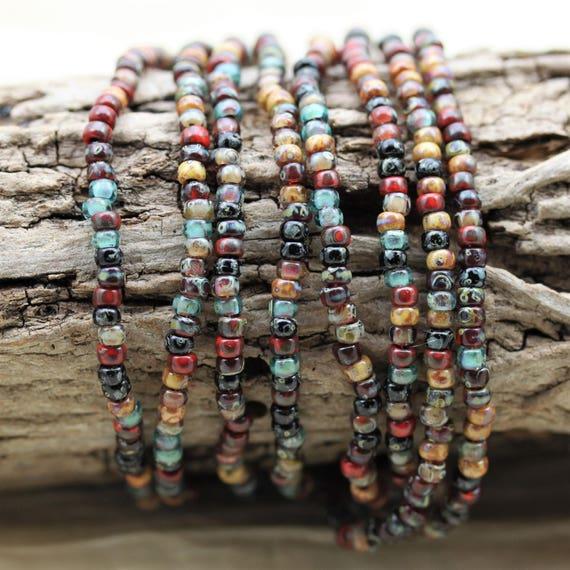 6//0 Strawberry Field Picasso Mega Mix Miyuki seed beads 30 grams!
