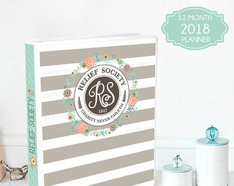 LDS Relief Society Binder Cover and planner set for 2018