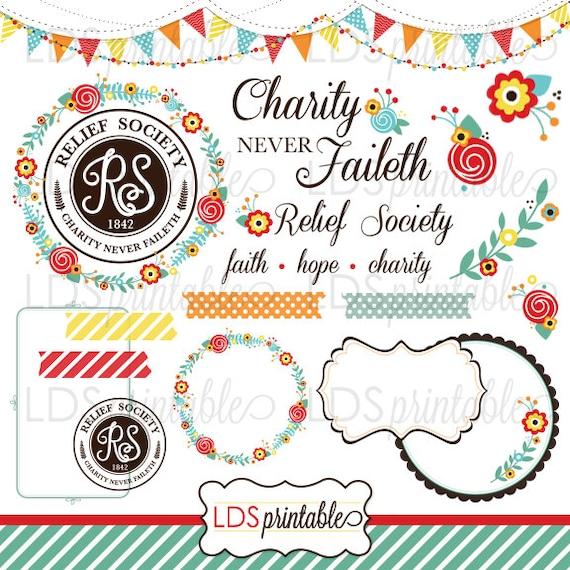 lds relief society clipart clip art faith hope charity charity rh etsy com free lds clipart relief society LDS Temple Clip Art