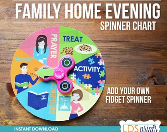 Family Home Evening - FHE - Assignment Spinner Chart