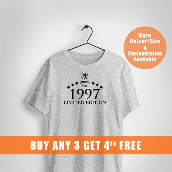 21 Years Old Birthday Shirt For Male And Female1997 Limited