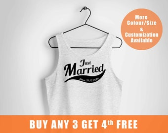 Just Married vest, Personalized vests, Mr and Mrs vest, hubby wifey, wedding vest, Married since vest with date,