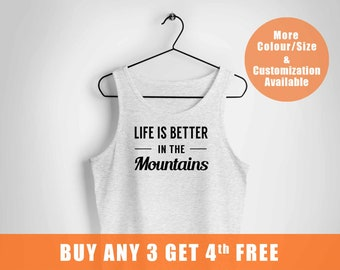 Mountains vest Camping Gifts,High Quality Hipster vest,Hiking vest Adventure vest,Life is Better in the Mountains Top,for Women and Me,,