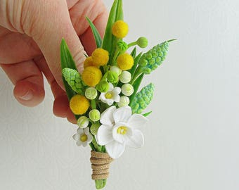 Daffodil Boutonniere Etsy
