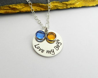 c48a5e858 Mom of boys necklace, Mother son necklace, Gift from son, Unique mom gift,  Mothers day gift ideas, New mom necklace, Gift for new mom