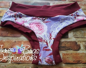XXS-XXL Chantilly & Lace Bunzies -handmade women underwear - Rose Bunzies -  Flower Bunzies - panties - cotton panties - custom underwear