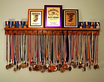 Premier 4ft Medal Hanger Award Display and Trophy Shelf
