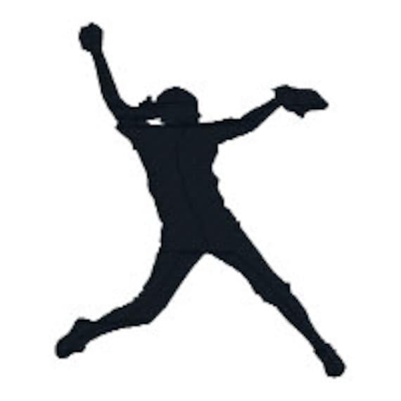 buy 2 get 1 free girls softball silhouette filled machine etsy