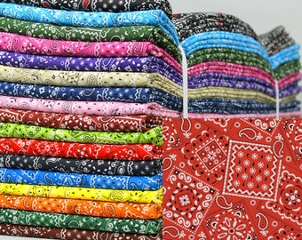 Bandana Fabric - 17 Colors to Choose From 100% Cotton - Quilters' Cotton
