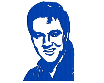 Elvis Presley Silhouette Machine Embroidery Design - Rock and Roll 60s Music - Classic Rock - Masculine - 3 Sizes - 4x4, 5x7, 6x10