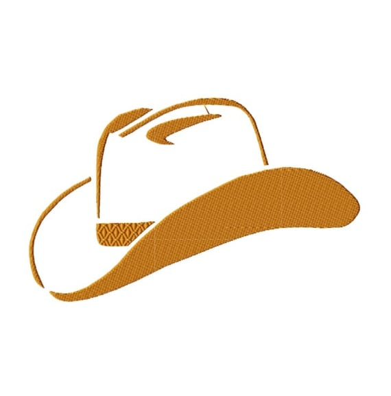 Sombrero de vaquero bordado diseño silueta occidental del | Etsy