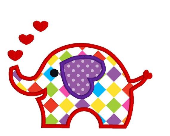 Buy 2 Get 1 Free Applique Elephant Machine Embroidery Design Etsy