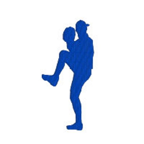 buy 2 get 1 free b17 baseball pitcher silhouette machine etsy