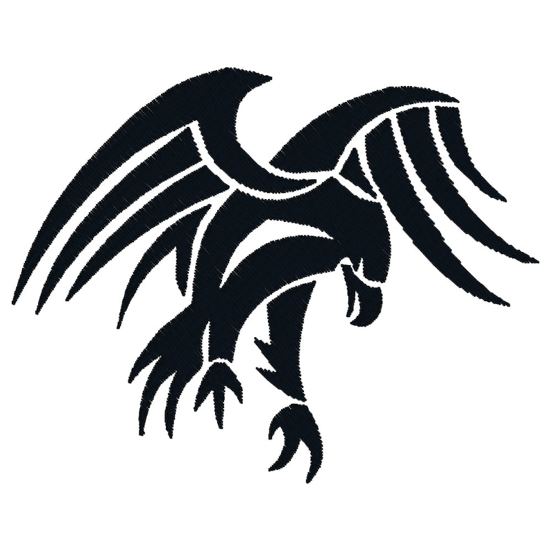 BUY 2, GET 1 FREE - Tribal Tattoo American Eagle Silhouette Machine  Embroidery Design in 3 Sizes - 4x4, 5x7, 6x10