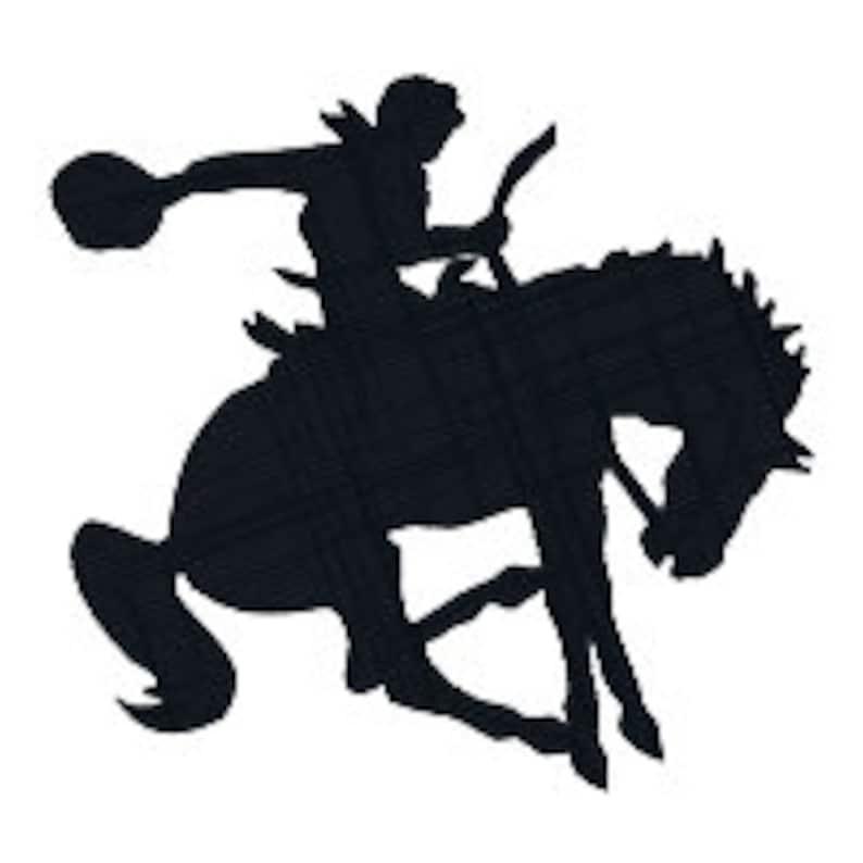 BUY 2 GET 1 FREE Bucking Bronco Cowboy on Horse Silhouette ...