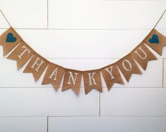 Thank You Burlap Banner,Thankyou Banner,Wedding Decor,Thank You Garland/Bunting,