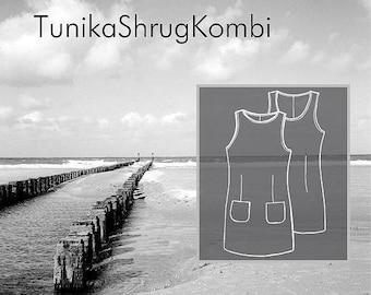 Sewing Pattern Women: Norderney - Tunic Shrug Kombi
