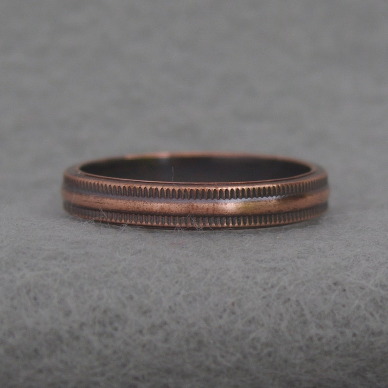 Simple Copper Stacking Ring geometric pattern ring hippie image 0