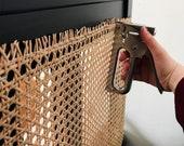 Rattan mesh webbing - sheet spline panel - cane wicker bamboo boho vintage look - furniture repair bedhead mirror drawers coffee table