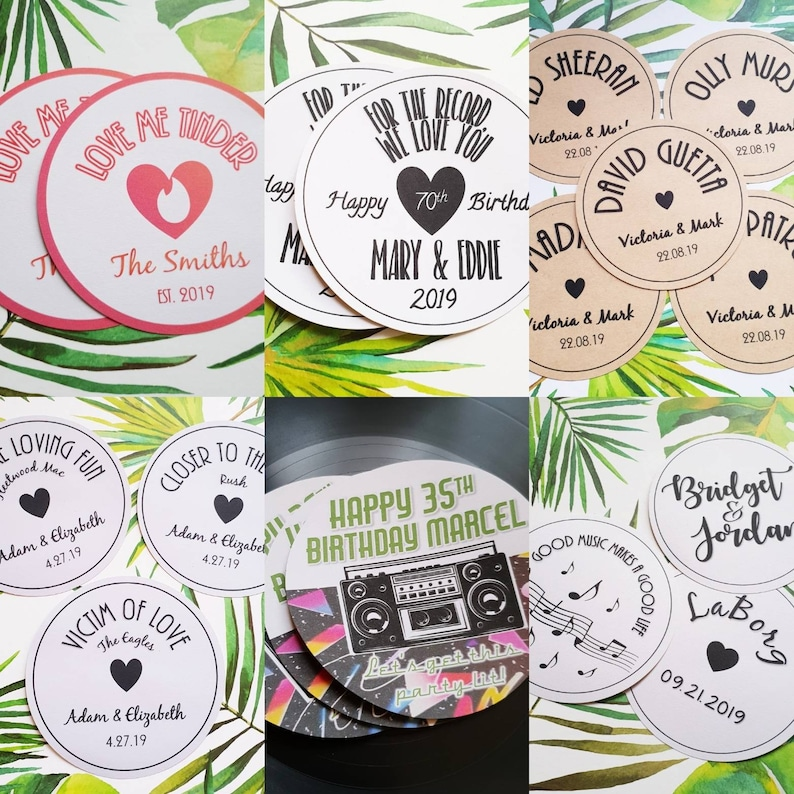 b17ac80de6 Tema di vinile personalizzato etichetta discografica nozze | Etsy