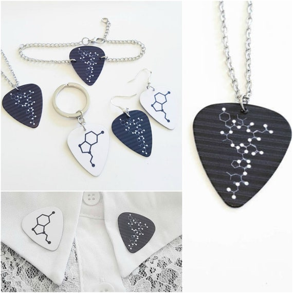 Christmas Pattern Corgis Custom Guitar Pick Pendant Necklace Keychain