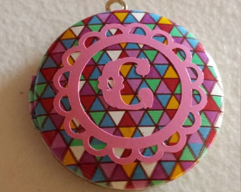 Colorful Intial Locket