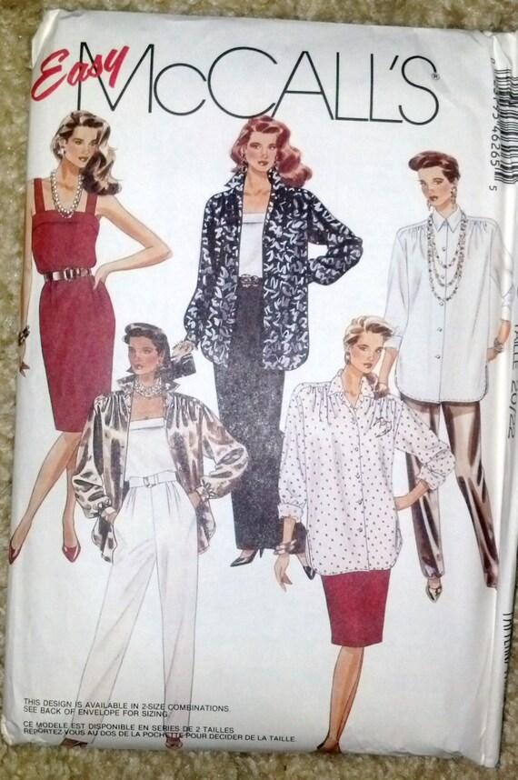 Moda patrón fácil Retro 80 de McCall hace túnica pantalón   Etsy