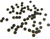 3MM Micro Mini Round Buttons 1 8 quot Diameter Dress It Up Buttons Jesse James Buttons Tiny Two Hole Sew Through BLACK - BR
