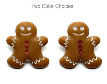 """Gingerbread Cookie Buttons Galore 7/8"""" Shank Flat Back Choice - 634"""