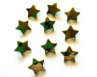 Mystic Star /& Eye Gold color decorative buttons.design at center.sewing buttons  shank buttons 1 14 inch 33 mm .6 per order