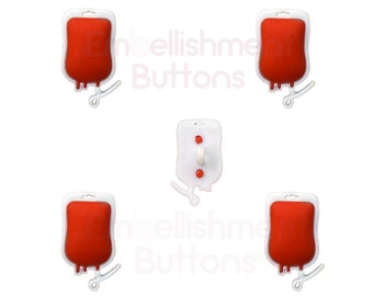 Halloween Vampire Blood Bags Sewing Buttons Shank Flat Back Choice 1321