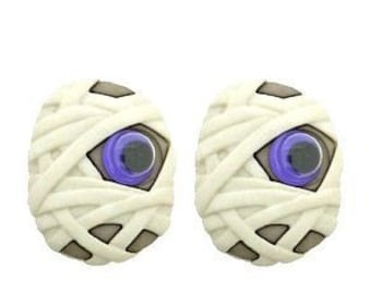 Mummy Buttons Jeepers Peepers Halloween Shank Flat Choice Jesse James Dress It Up Buttons - H110