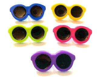 Sunglasses Button Collection Lovin' The Shade Shank Flat Back Choice Set of 5 Jesse James Dress It Up Buttons Sun Glasses - 1334