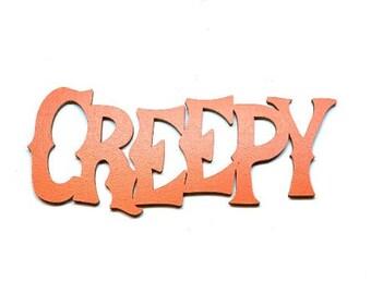 Miniature CREEPY Word Halloween Embellishments Wood Flat Backs HBOX 2