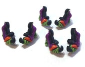 Witch Shoes Buttons Halloween Witches Spell Shank Flat Back Choice Jesse James Dress It Up Buttons - H114