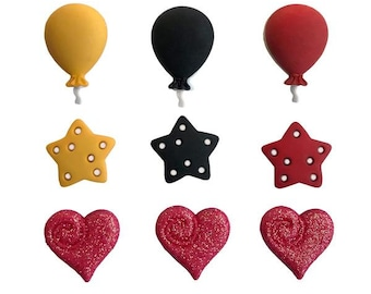 winter sewing craft Hearts with swirl /& frosted shank buttons 20mm christmas