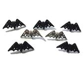 Bat Button Collection Assorted Glitter Set of 7 Shank Flat Choice Bewitching Bats Dress It Up Buttons Jesse James Buttons - H103