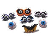 Halloween Button Collection Monster Eyes Set of 7 Shank Back Dress It Up Buttons Jesse James Buttons Craft Supply - H118