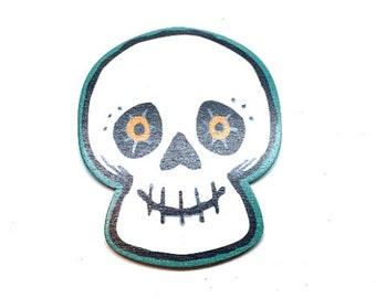 Miniature Skull Halloween Embellishments Wood Flat Back HBOX 1