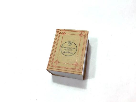1:12 Dollhouse Miniature Dictionary// Miniature Books// Doll Book// Miniatures