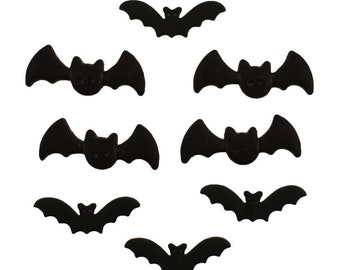 Bats Buttons Galore Collection Two Hole Sew Thru Set of 8 Flat Back - 1337
