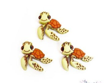 Disney Squirt Buttons Finding Nemo Shank Flat Back Choice Licensed Turtle Jesse James Dress It Up Buttons - D16
