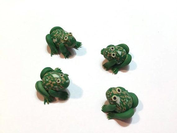 Miniature Frogs Terrarium Figurines Fairy Garden Decor Etsy