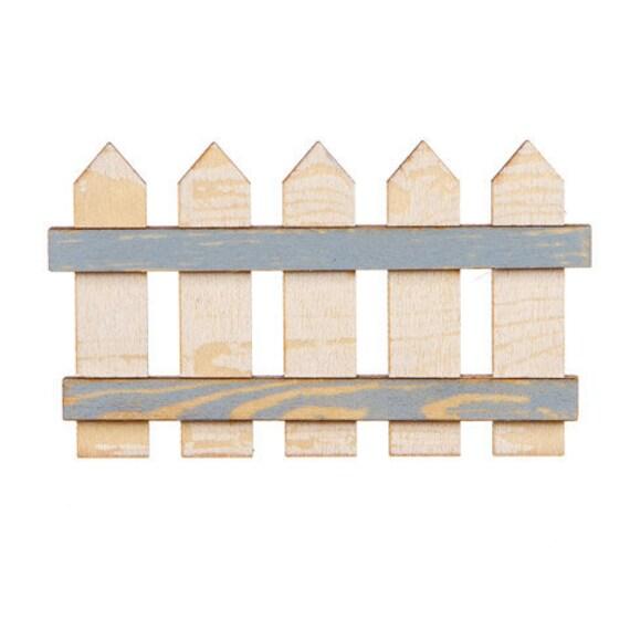 "Miniature Dollhouse Fairy Garden 5.5/"" Wooden Fence Buy 3 Save $5"