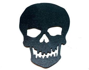 Miniatures Black Skull Embellishments Wood Flat Back HBOX 2