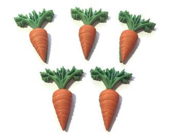 Carrot Buttons Fresh Produce Vegetables Shank Back Jesse James Dress It Up Buttons - 1325 D