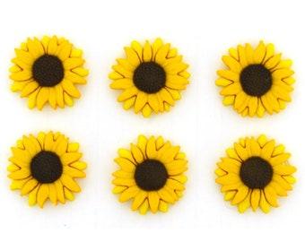 Sunflower Buttons Flowers Shank Back Jesse James Dress It Up Buttons Autumn Fall Flowers - 147